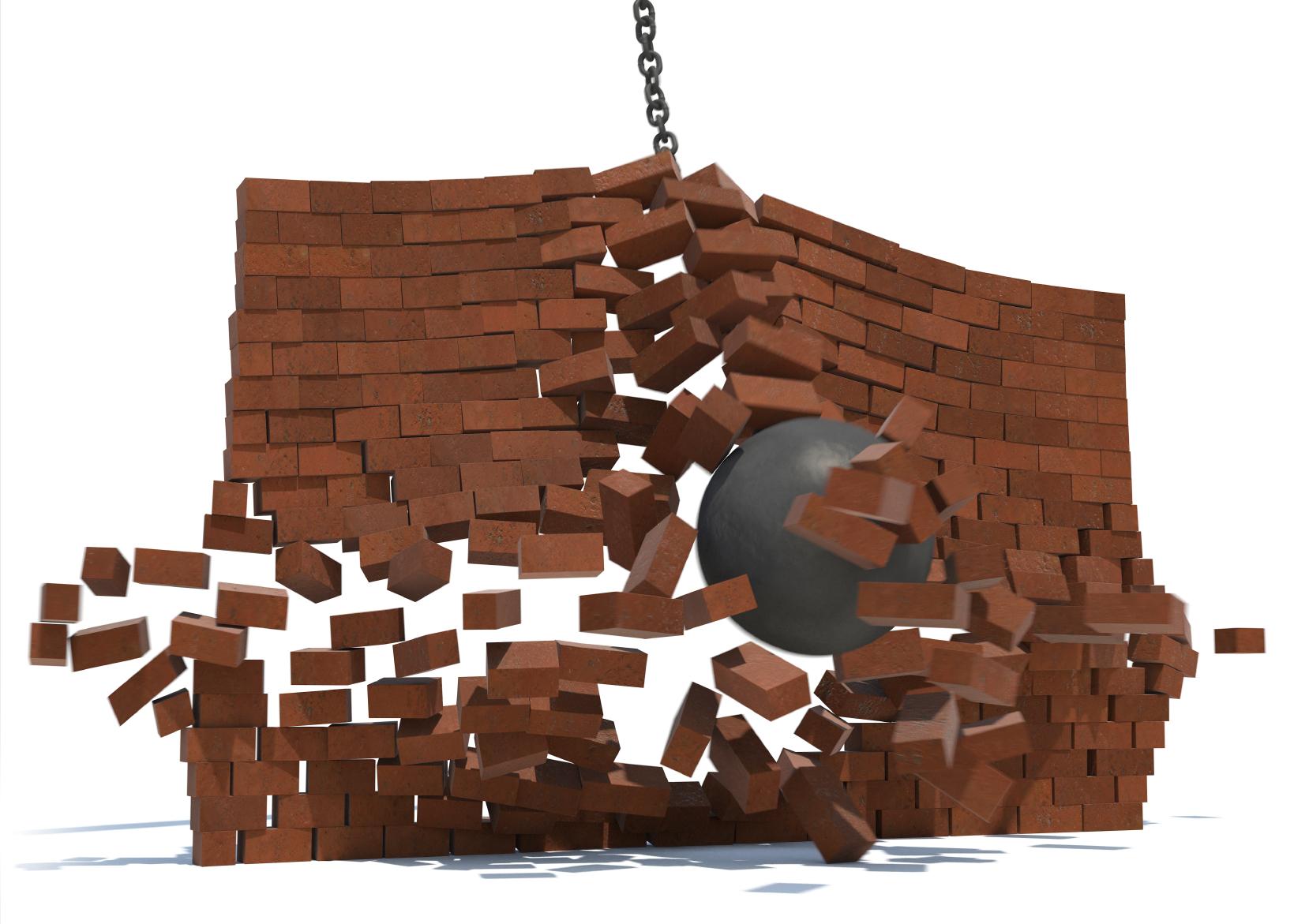Smash through the wall
