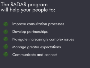 RADAR professional development program benefits