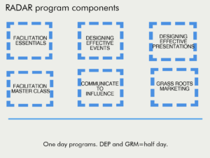 RADAR professional development program components