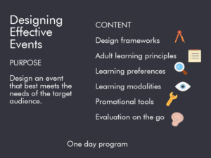 Designing Effective Events