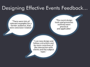 Event design tips