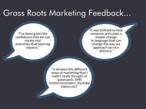 Grass roots marketing workshop